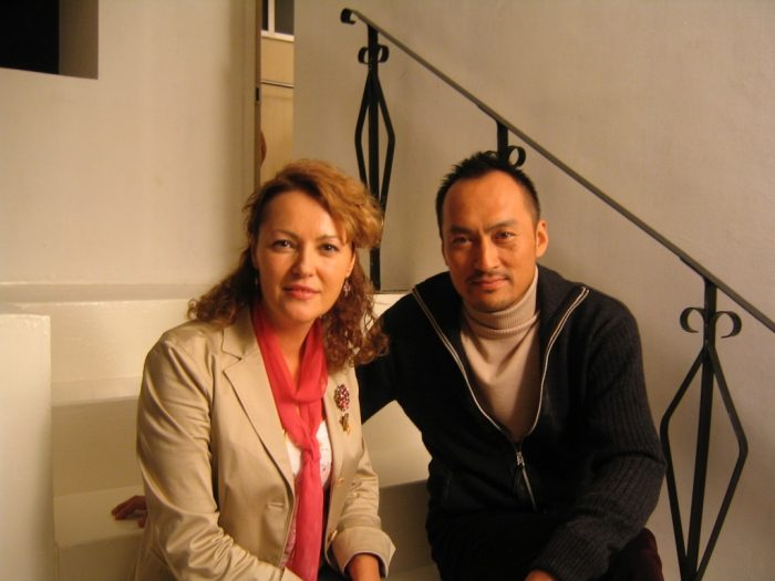 Actor Ken Watanabe and journalist Judit Kawaguchi