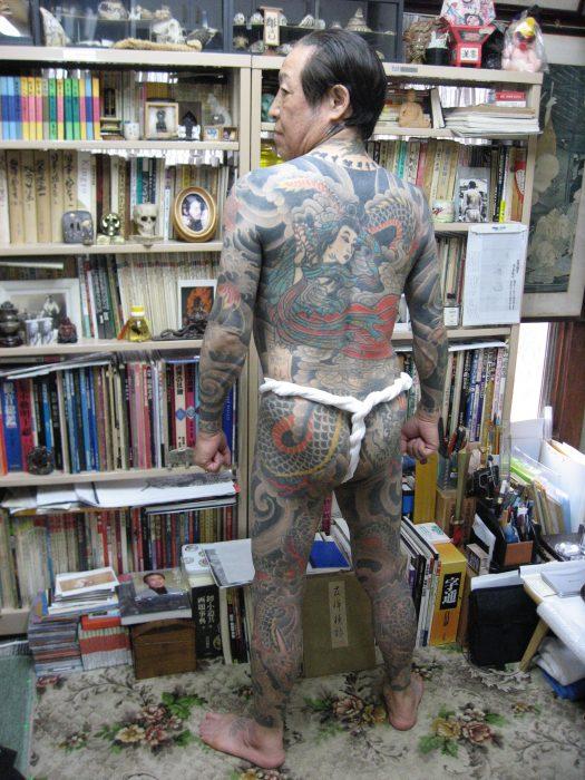 Japanese tattoo artist Horiyoshi III in Tokyo, photo by Judit Kawaguchi
