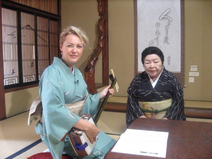 Judit Kawaguchi & her shamisen sensei