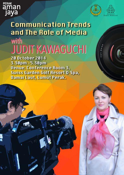 Judit Kawaguchi at the Pangkor International Development Dialogue in Malaysia, 2014. October 20th