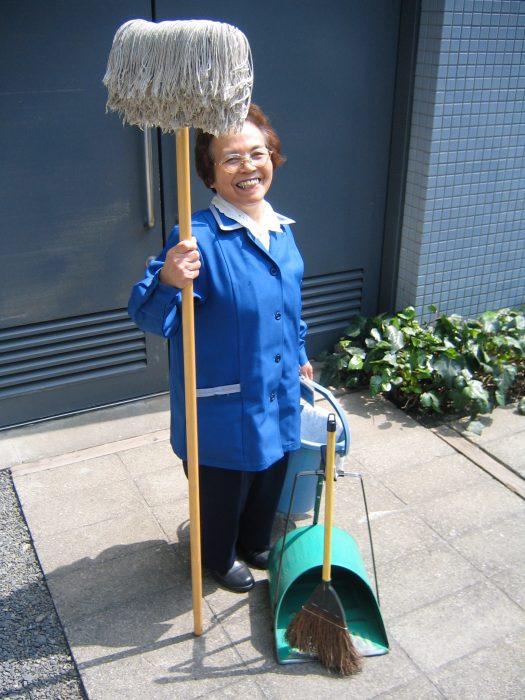 Tokyo cleaning lady Toshie Kobayashi