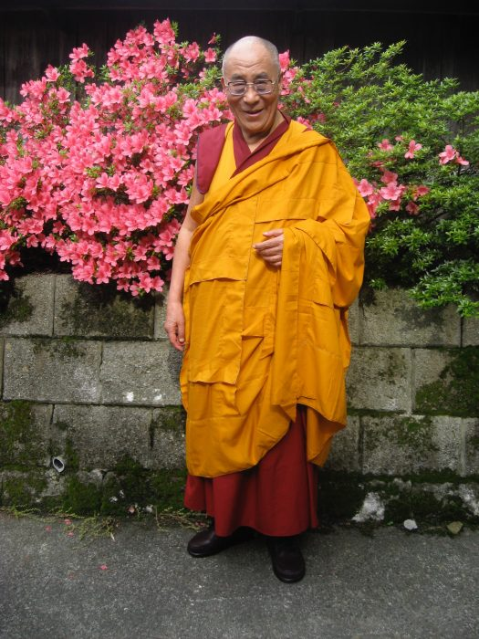 His Holiness the Dalai Lama, Tenzin Gyatso, in Nagano, Japan. Photo by Judit Kawaguchi