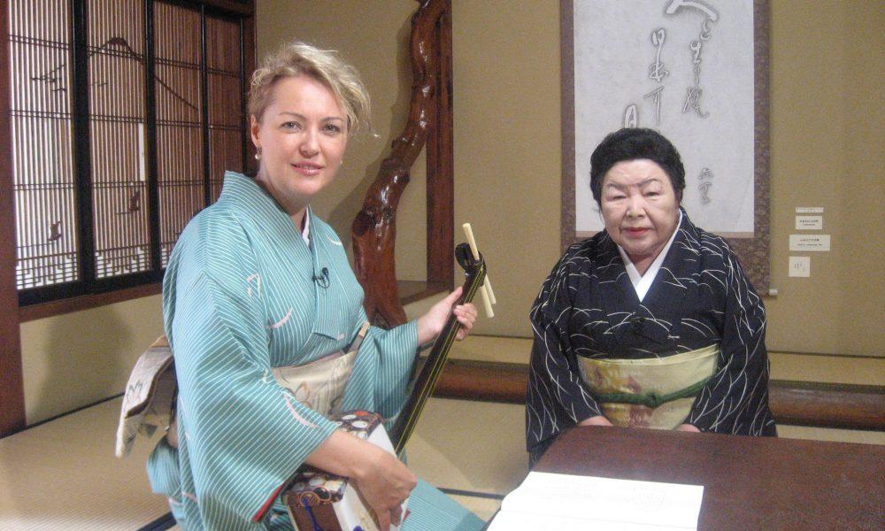 Judit in kimono — TV reporter | NHK TV | Judit Kawaguchi