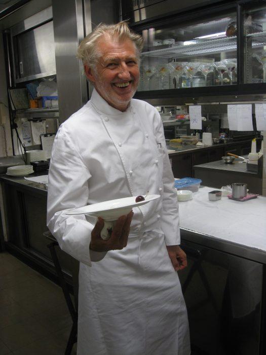 Chef Pierre Gagnaire in his Tokyo restaurant. Photo by Judit Kawaguchi