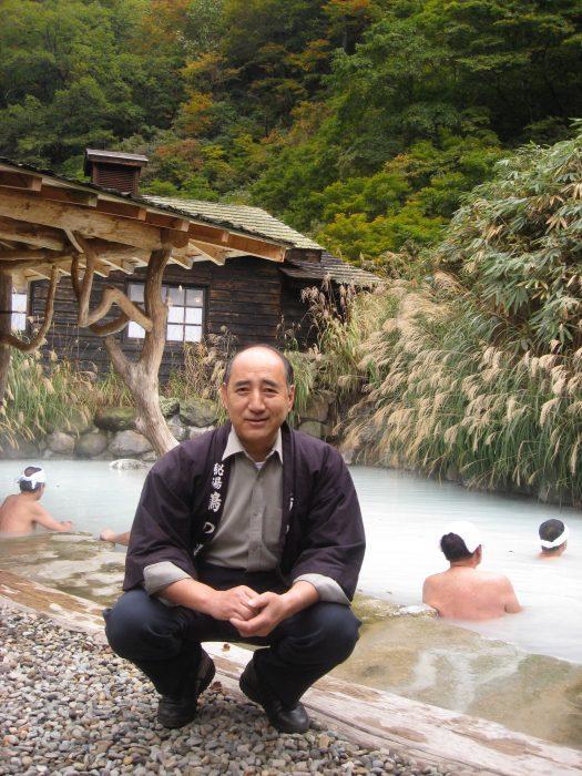 Tsurunoyu onsen ryokan owner Kazushi Sato. Photo by Judit Kawaguchi