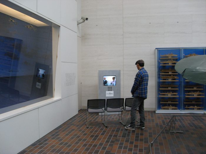Ohka TV show display at Yushukan Museum, Yasukuni Shrine